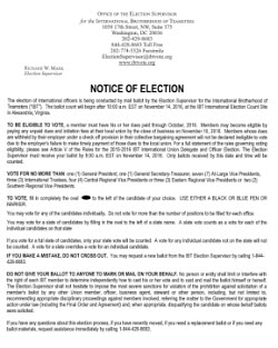 Download the NOTICE OF ELECTION